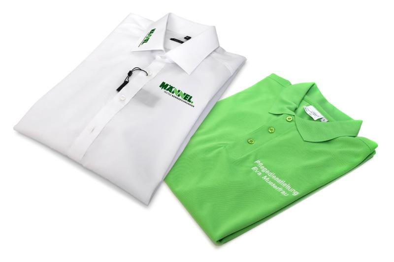 Direkteinstickung, Arbeitskleidung, Personalisierung